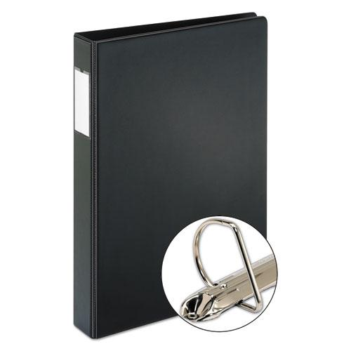 "Legal Slant D Ring Binder, 3 Rings, 1"" Capacity, 14 x 8.5, Black. Picture 2"