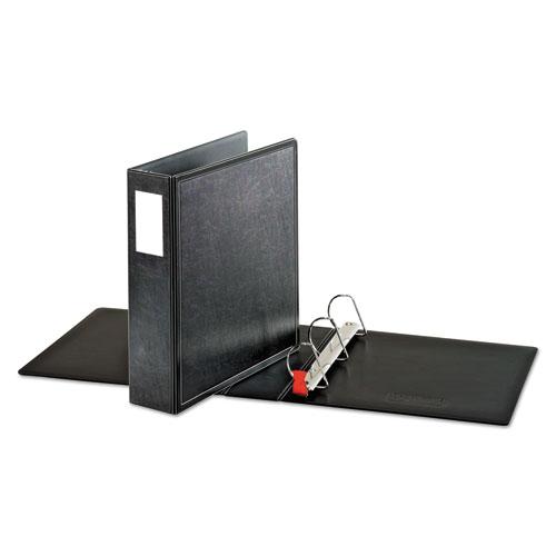 "SuperLife Easy Open Locking Slant-D Ring Binder, 3 Rings, 2"" Capacity, 11 x 8.5, Black. Picture 2"