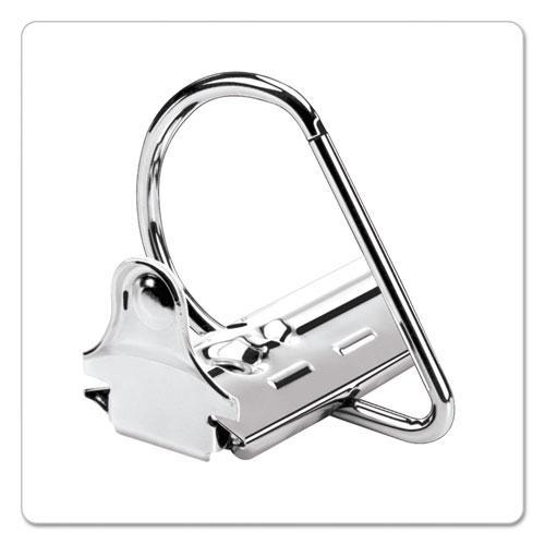 "ExpressLoad ClearVue Locking D-Ring Binder, 3 Rings, 4"" Capacity, 11 x 8.5, Black. Picture 4"