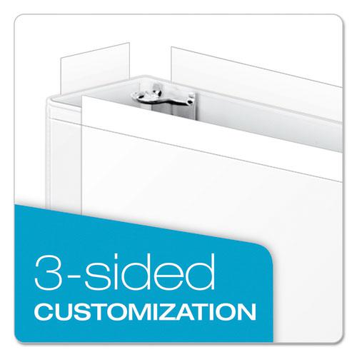 "ClearVue Slant-D Ring Binder, 3 Rings, 3"" Capacity, 11 x 17, White. Picture 3"