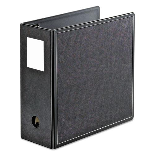 "SuperLife Easy Open Locking Slant-D Ring Binder, 3 Rings, 5"" Capacity, 11 x 8.5, Black. Picture 1"