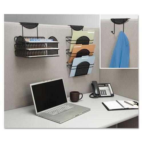 Perf-Ect Partition Additions Three-Tray Organizer, 12 1/8 x 12 3/8, Black. Picture 3