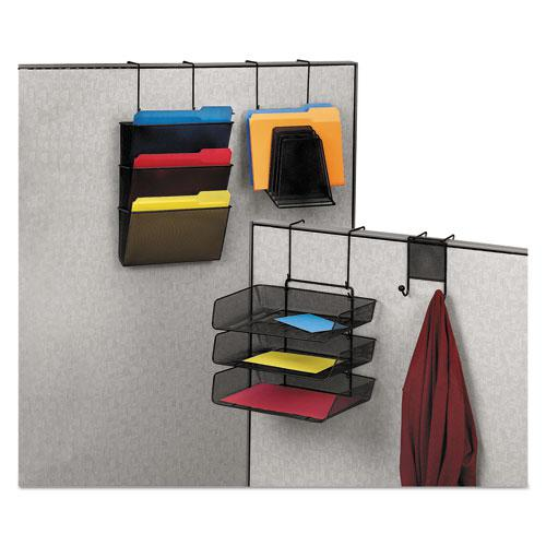 Mesh Partition Additions Three-Tray Organizer, 11 1/8 x 14 x 14 3/4, Black. Picture 3