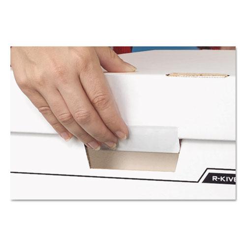 "DATA-PAK Storage Boxes, Letter Files, 13.75"" x 17.75"" x 13"", White/Blue, 12/Carton. Picture 2"