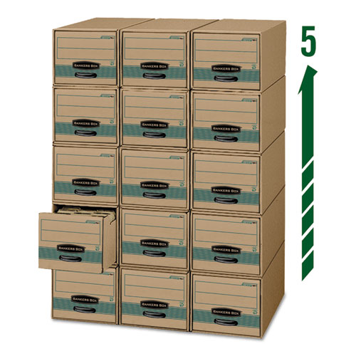 "STOR/DRAWER STEEL PLUS Extra Space-Savings Storage Drawers, Letter Files, 14"" x 25.5"" x 11.5"", Kraft/Green, 6/Carton. Picture 2"