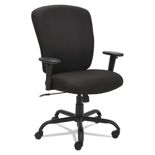Alera Mota Series Big and Tall Chair, Supports up to 450 lbs, Black Seat/Black Back, Black Base. Picture 4