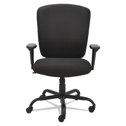 Alera Mota Series Big and Tall Chair, Supports up to 450 lbs, Black Seat/Black Back, Black Base. Picture 1