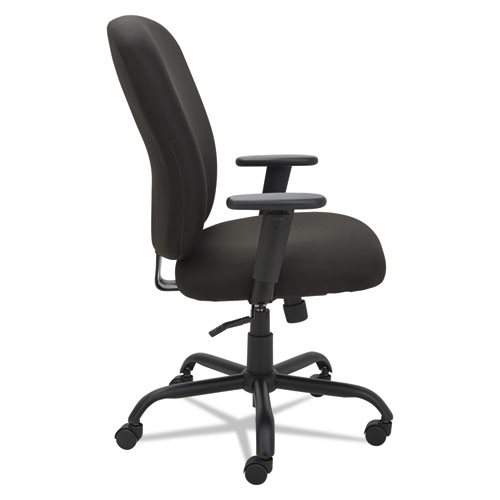 Alera Mota Series Big and Tall Chair, Supports up to 450 lbs, Black Seat/Black Back, Black Base. Picture 5