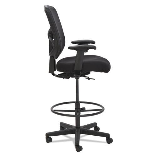 "Alera Elusion Series Mesh Stool, 31.6"" Seat Height, Supports up to 275 lbs., Black Seat/Black Back, Black Base. Picture 4"