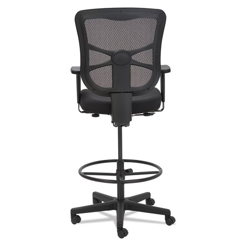 "Alera Elusion Series Mesh Stool, 31.6"" Seat Height, Supports up to 275 lbs., Black Seat/Black Back, Black Base. Picture 5"