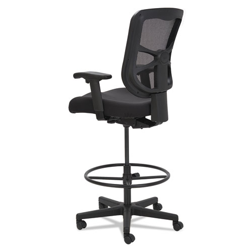 "Alera Elusion Series Mesh Stool, 31.6"" Seat Height, Supports up to 275 lbs., Black Seat/Black Back, Black Base. Picture 6"