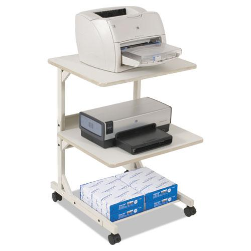 Dual Laser Printer Stand, Three-Shelf, 24w x 24d x 33h, Gray. Picture 1