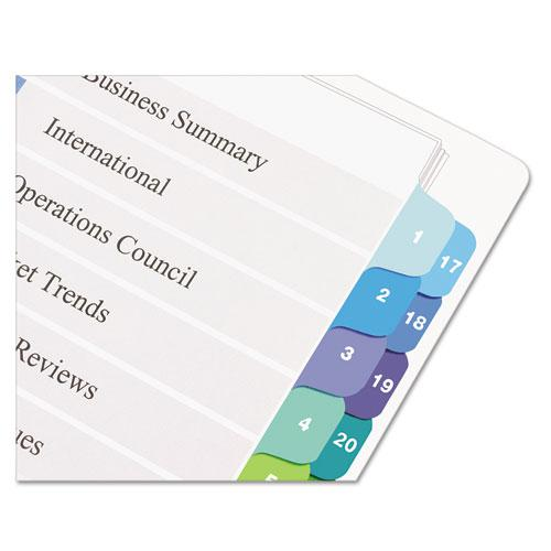 Customizable TOC Ready Index Double Column Multicolor Dividers, 32-Tab, Letter. Picture 2