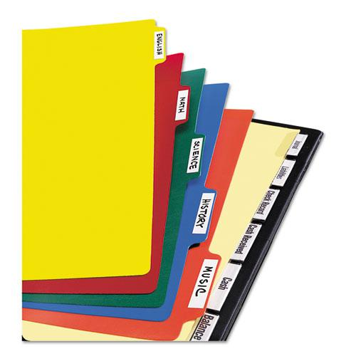 Heavy-Duty Plastic Dividers with Multicolor Tabs and White Labels , 8-Tab, 11 x 8.5, Assorted, 1 Set. Picture 4
