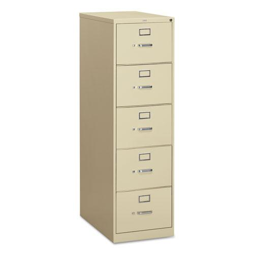 310 Series Five-Drawer Full-Suspension File, Legal, 18.25w x 26.5d x 60h, Putty. Picture 1