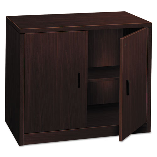 10500 Series Storage Cabinet w/Doors, 36w x 20d x 29-1/2h, Mahogany. Picture 1
