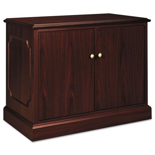 94000 Series Storage Cabinet, 37-1/2w x 20-1/2d x 29-1/2h, Mahogany. Picture 1