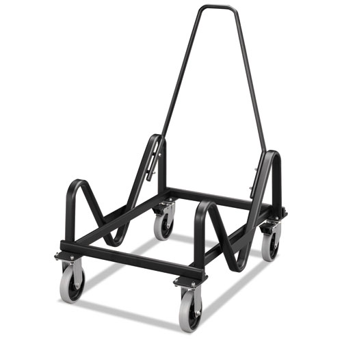 GuestStacker Cart, 21.38w x 35.5d x 37.88h, Black. Picture 1