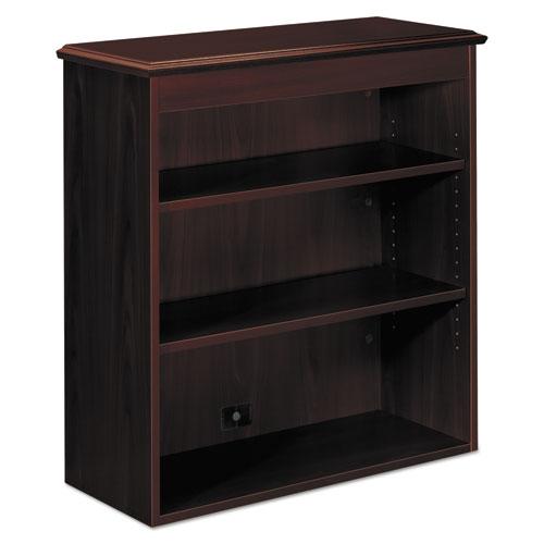 94000 Series Bookcase Hutch, 35.75w x 14.31d x 37h, Mahogany. Picture 1