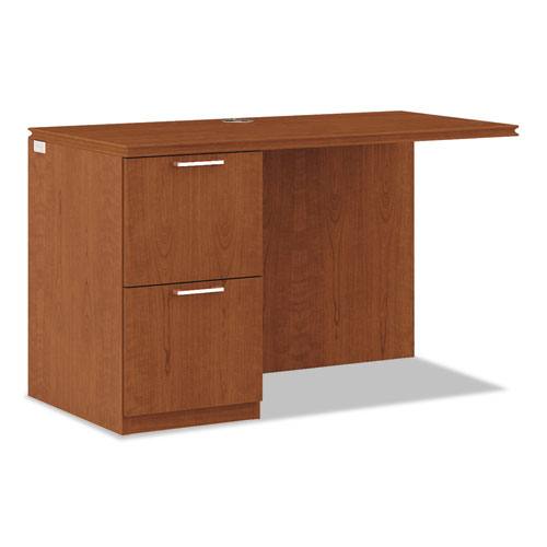 Arrive Left Return For Right Pedestal Desk, 48w x 24d x 29-1/2h, Henna Cherry. Picture 1