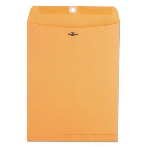 Kraft Clasp Envelope, #93, Square Flap, Clasp/Gummed Closure, 9.5 x 12.5, Brown Kraft, 100/Box. Picture 3