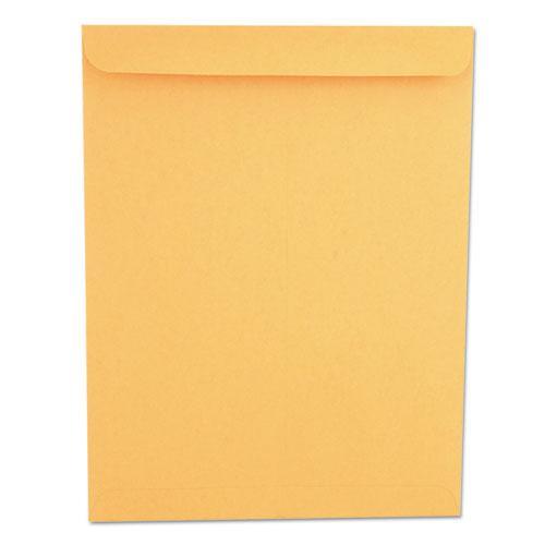 Catalog Envelope, #13 1/2, Squ Flap, Gummed Closure, 10 x 13, Brown Kraft, 250/Box. Picture 1