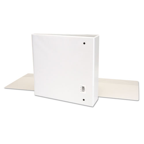 """Deluxe Easy-to-Open Round-Ring View Binder, 3 Rings, 3"""" Capacity, 11 x 8.5, White. Picture 3"""