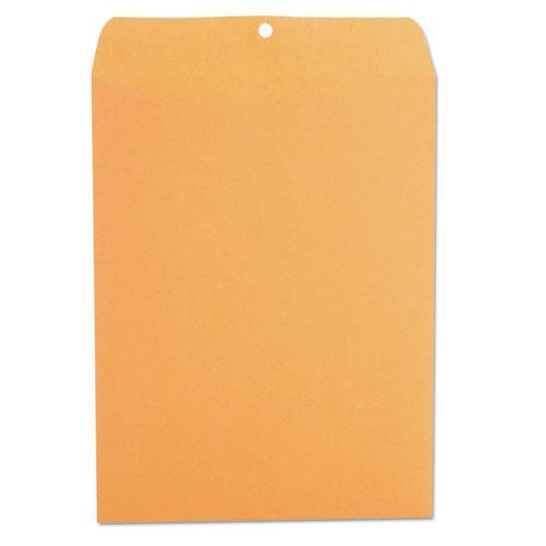 Kraft Clasp Envelope, #93, Square Flap, Clasp/Gummed Closure, 9.5 x 12.5, Brown Kraft, 100/Box. Picture 2