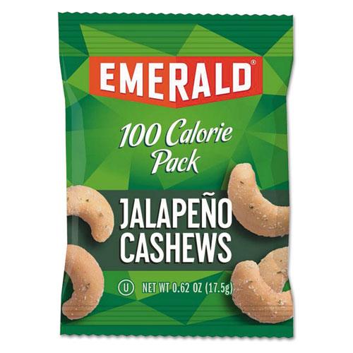100 Calorie Pack Nuts, Jalapeno Cashews, 0.62 oz Pack, 7/Box. Picture 1