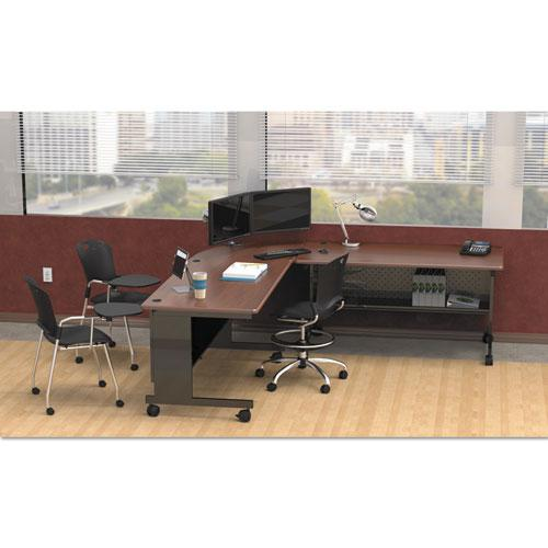 Agility Series Rectangular Table, 72w x 24d x 29-1/2h, Mahogany/Black. Picture 3