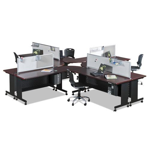 Agility Series Rectangular Table, 72w x 24d x 29-1/2h, Mahogany/Black. Picture 5