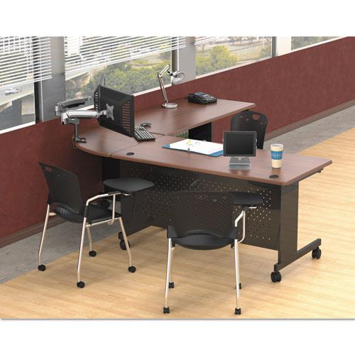 Agility Series Rectangular Table, 72w x 24d x 29-1/2h, Mahogany/Black. Picture 4