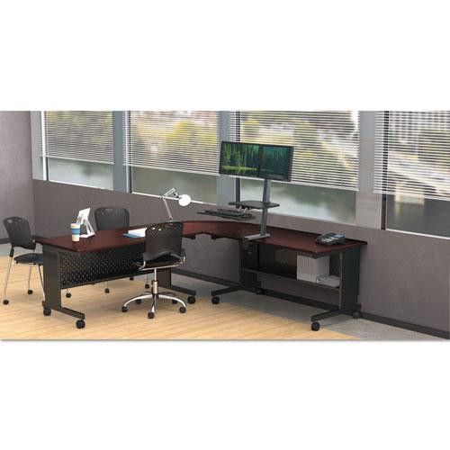 Agility Series Rectangular Table, 72w x 24d x 29-1/2h, Mahogany/Black. Picture 6