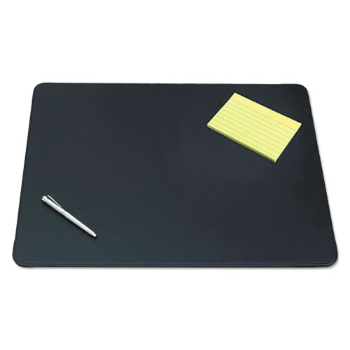 Sagamore Desk Pad w/Decorative Stitching, 24 x 19, Black. The main picture.