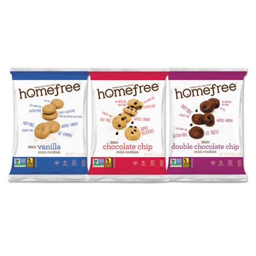 Gluten Free Mini Cookies Variety Pack, 1.1 oz/0.95 oz/1.1 oz Packs, 30/Carton. Picture 1