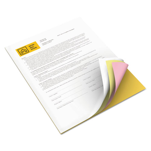 Revolution Carbonless 4-Part Paper, 8.5x11, Canary/Goldenrod/Pink/White, 5, 000/Carton. Picture 1