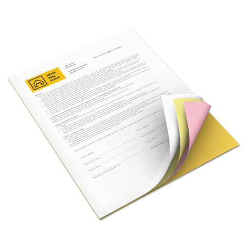 Vitality Multipurpose Carbonless 4-Part Paper, 8.5 x 11, Canary/Goldenrod/Pink/White, 5, 000/Carton. Picture 1