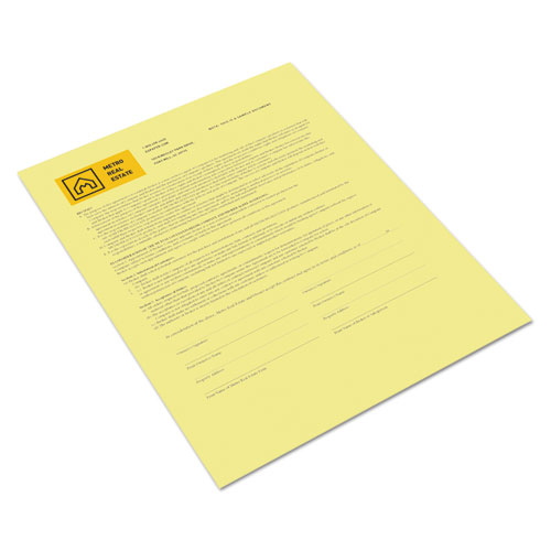 Revolution Digital Carbonless Paper, 1-Part, 8.5 x 11, Canary, 500/Ream. Picture 1