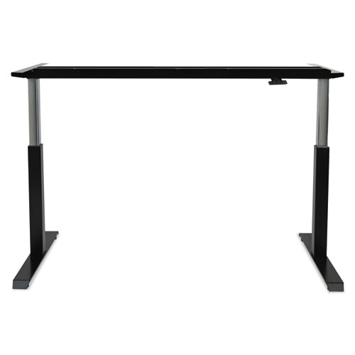 """AdaptivErgo Pneumatic Height-Adjustable Table Base, 26.18"""" to 39.57"""", Black. Picture 5"""