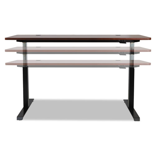 """AdaptivErgo Pneumatic Height-Adjustable Table Base, 26.18"""" to 39.57"""", Black. Picture 12"""