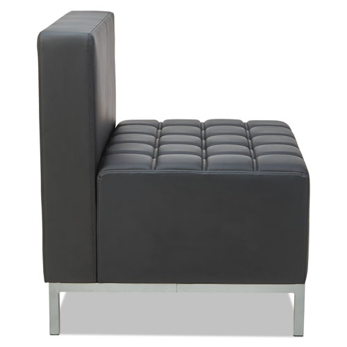 Alera QUB Series Powered Armless L Sectional, 26.38w x 26.38d x 30.5h, Black. Picture 7