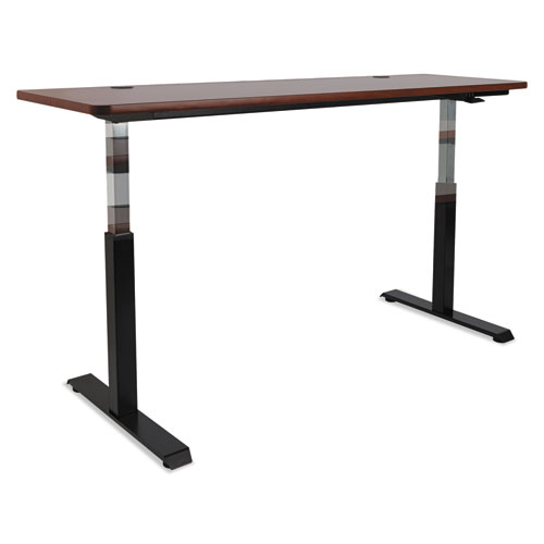 """AdaptivErgo Pneumatic Height-Adjustable Table Base, 26.18"""" to 39.57"""", Black. Picture 11"""