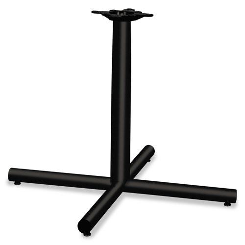 Single Column Steel Base, 36w x 36d x 27-7/8h, Black. Picture 1