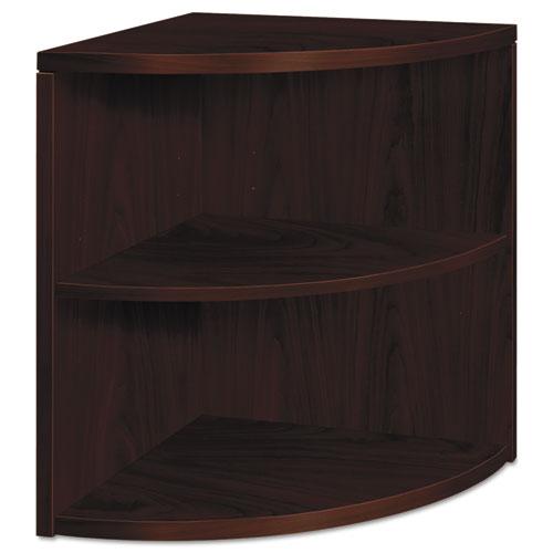 10500 Series Two-Shelf End Cap Bookshelf, 24w x 24d x 29-1/2h, Mahogany. Picture 1
