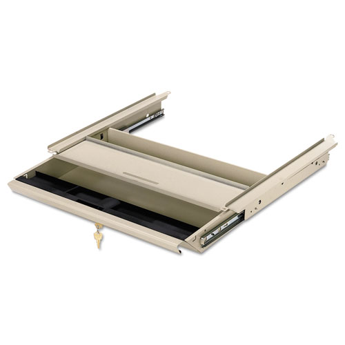 Center Drawer w/Core Removable Locks, 38000 Series, 19 x 14-3/4 x 3, Light Gray. Picture 1