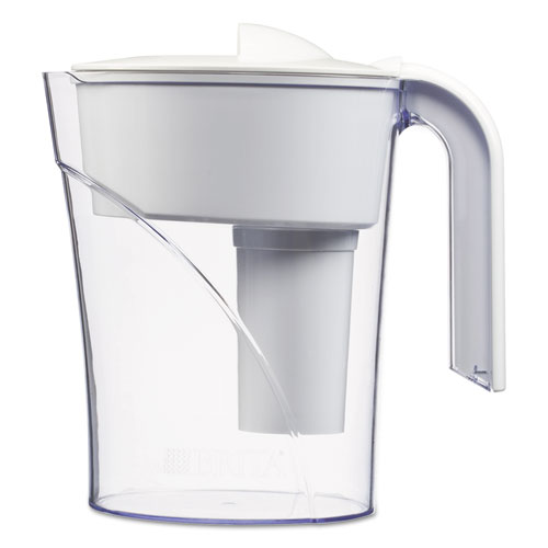 Brita classic water filter pitcher 48 oz white - Glass filtered water pitcher ...