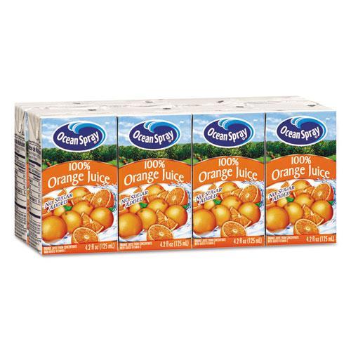Aseptic Juice Boxes, 100% Orange, 4.2oz, 40/Carton. Picture 1