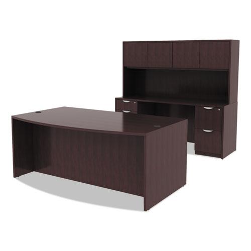 """Alera Valencia Series Bow Front Desk Shell, 71"""" x 41.38"""" x 29.63"""", Espresso. Picture 2"""