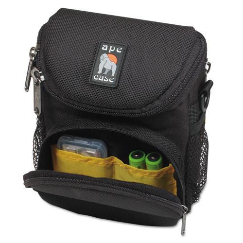 Camcorder/Digital Camera Case, Ballistic Nylon, 5 x 2 x 4 1/2, Black. Picture 3