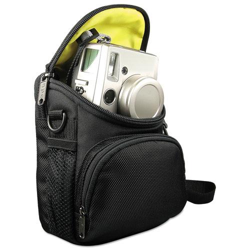 Camcorder/Digital Camera Case, Ballistic Nylon, 5 x 2 x 4 1/2, Black. Picture 2